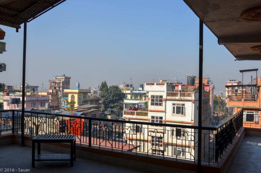 Blick vom Hotel International Guest House über Thamel Kathmandu
