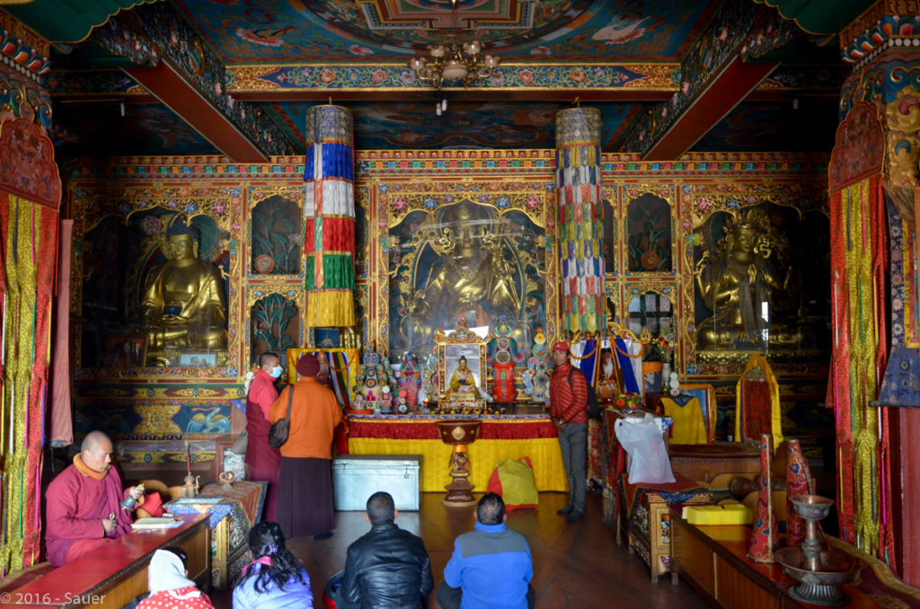 Budhistischer Tempel, innen, an Baudhanath Stupa
