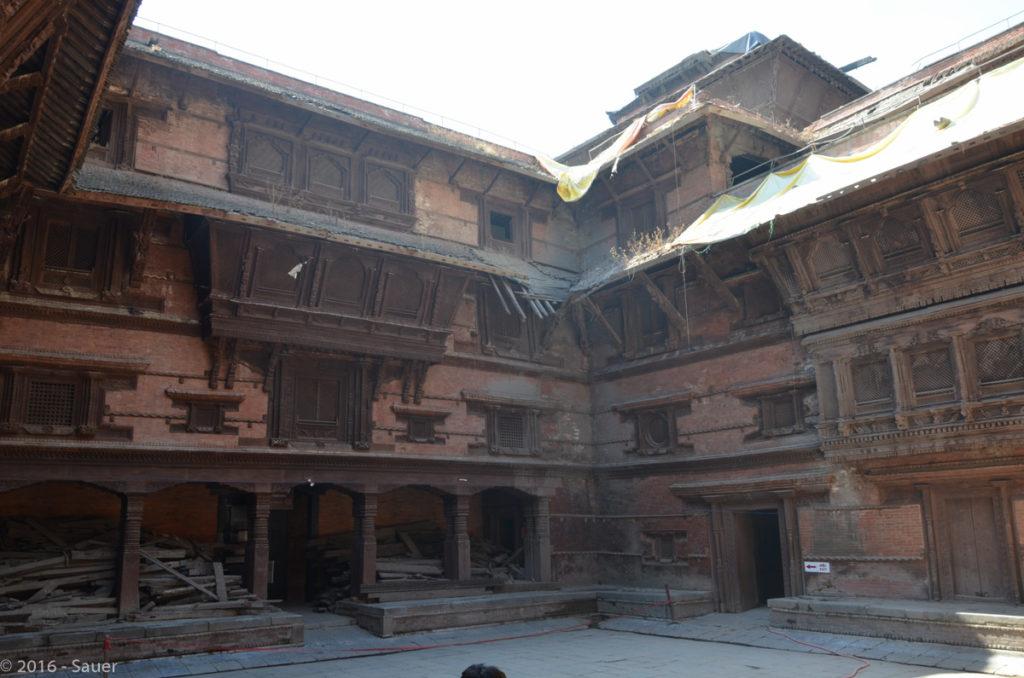 zerstörter Palast am Durbar Square