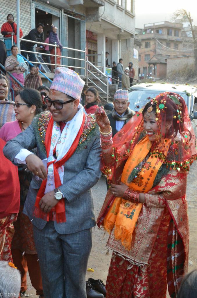 Nepalesische Hochzeit