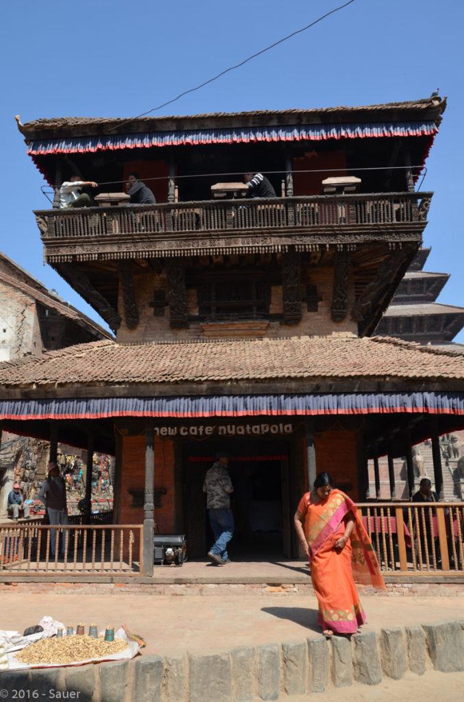 Café am Dhurbar-Square Bhaktapur