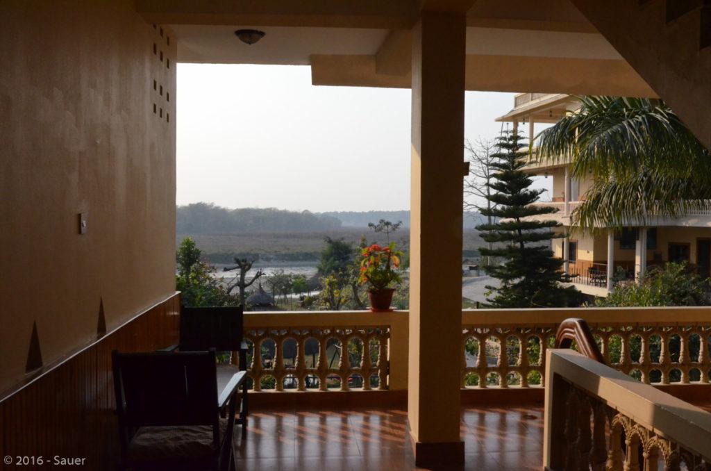 Blick vom Hotel River Side