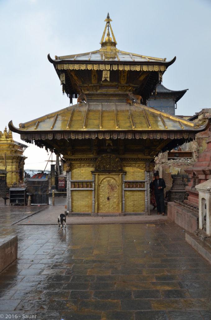 Tempel an der Swayambunath Stupa