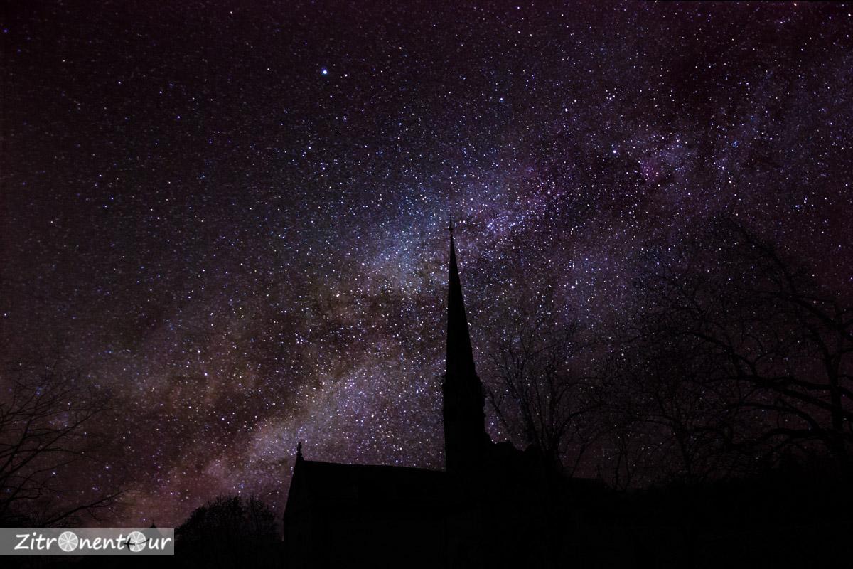 Die Milchstraße hinter dem Kloster Maulbronn (Fotomontage)