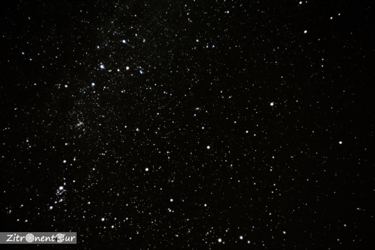 Die Sternbilder Kassiopeia und Andromeda mit Pegasus, Perseus und der Andromeda-Galaxie.