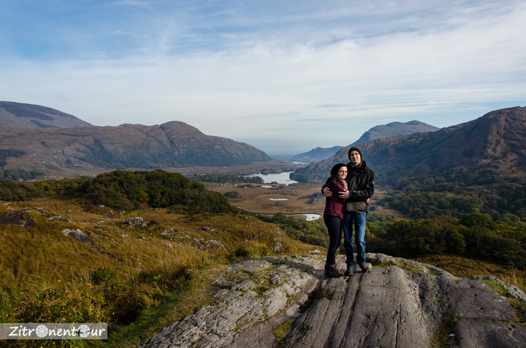 Jenny und Basti am Ladies View im Killarney National Park