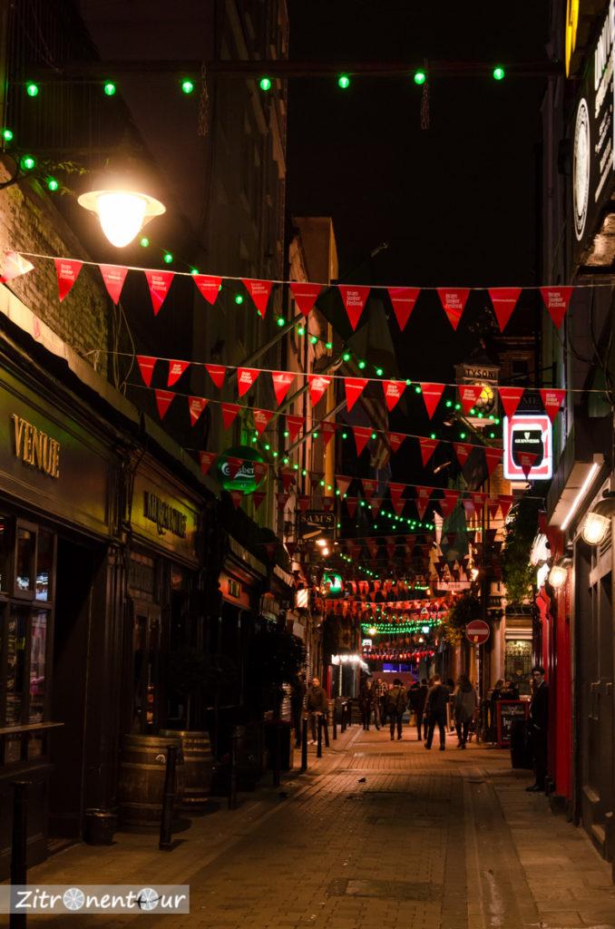 Dame Lane bei Nacht