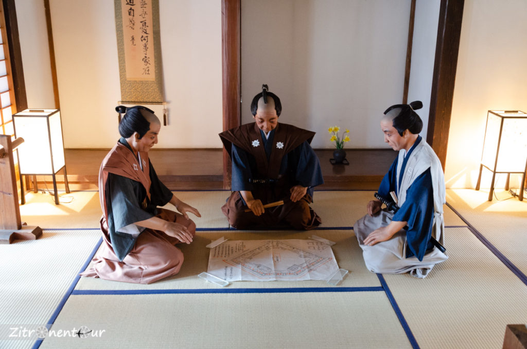 Puppen im der Burg Honmaru Goten in Kawagoe