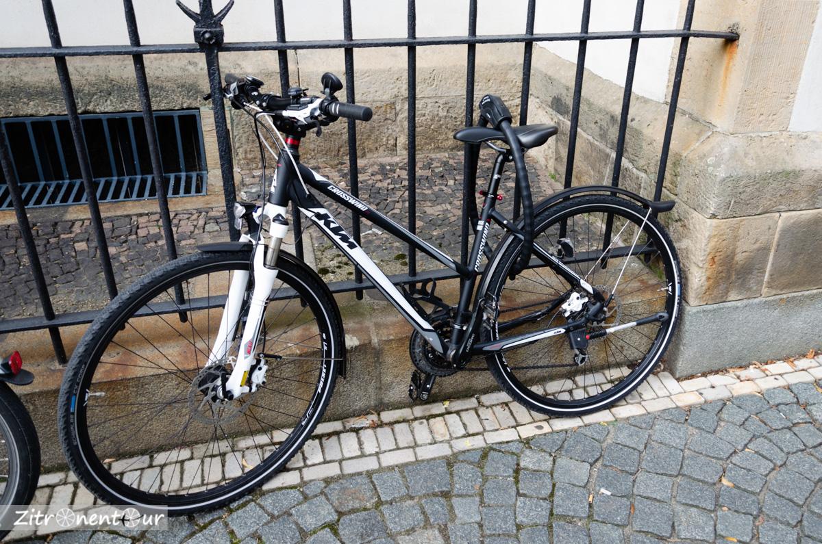Leipzig Fahrrad, Fahrradschloss witzig und nutzlos