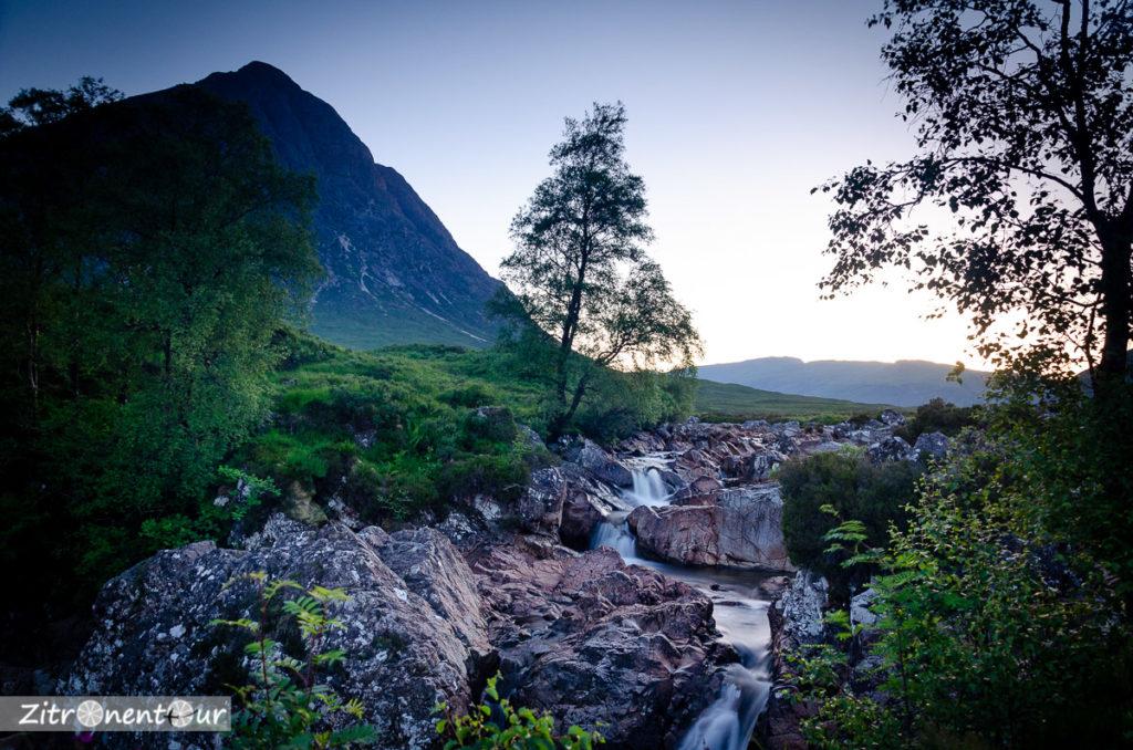 Wasserfall beim Glen Etive